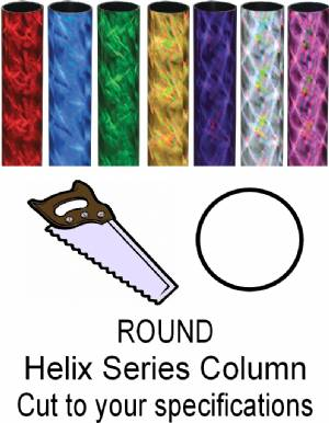 Round Helix Trophy Column - Cut to Length