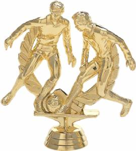 "4 3/4"" Soccer Double Action Trophy Figure Gold"