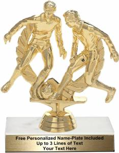 "5 1/2"" Soccer Double Action Trophy Kit"