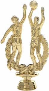 "6 1/4"" Basketball Double Action Male Trophy Figure Gold"