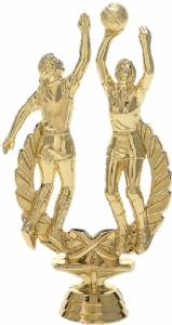 "6 1/4"" Basketball Action Female Trophy Figure Gold"