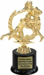 "6 3/4"" Football Action Male Trophy Kit with Pedestal Base"
