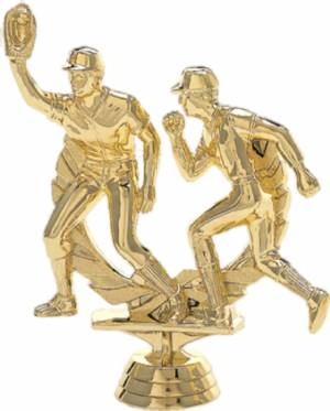 "4 3/4"" Baseball Double Action Trophy Figure Gold"
