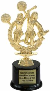 "8"" Double Cheerleaders Trophy Kit with Pedestal Base"