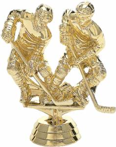 "4"" Double Action Hockey Trophy Figure Gold"