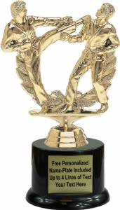 "7"" Karate Double Action Male Trophy Kit with Pedestal Base"