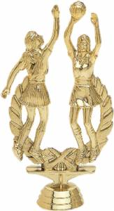 "6 1/4"" Double Action Netball Female Trophy Figure Gold"