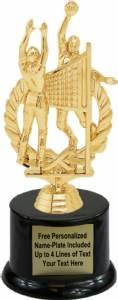 "6 3/4"" Double Volleyball Male Trophy Kit with Pedestal Base"