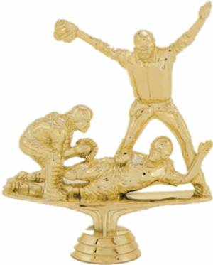 "5 3/4"" Triple Action Softball Trophy Figure Gold"