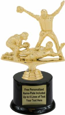 "6 3/4"" Triple Action Softball Trophy Kit with Pedestal Base"