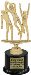 "6 3/4"" Triple Action Football Male Trophy Kit with Pedestal Base"