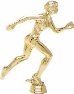 "8 1/2"" Track Female Trophy Figure Gold"