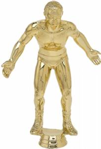 "8 1/2"" Wrestler Male Trophy Figure Gold"