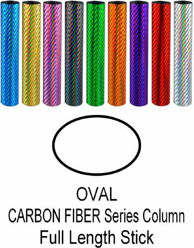 "Oval Carbon Fiber Series Trophy Column Full 45"" stick"