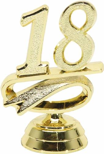 "2 1/2"" Gold ""18"" Year Date Trophy Trim Piece"