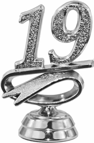 "2 1/2"" Silver ""19"" Year Date Trophy Trim Piece"