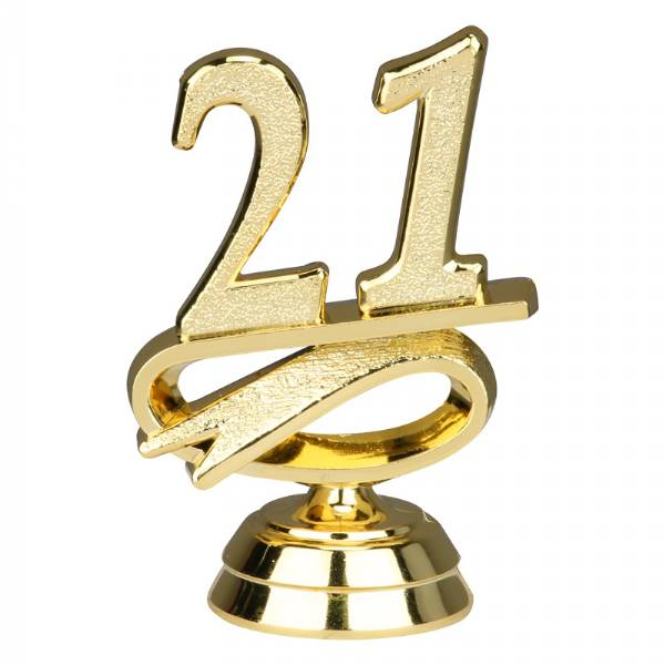 "2 1/2"" Gold ""21"" Year Date Trophy Trim Piece"