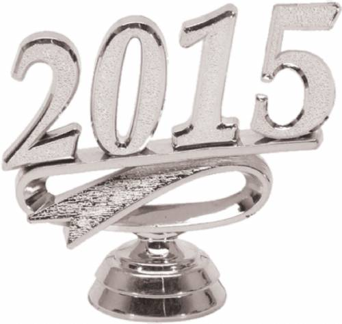 "2 1/4"" Silver ""2015"" Year Date Trophy Trim Piece"