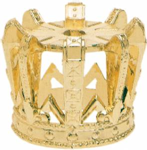 Gold Crown Trophy Riser 1 7/8""