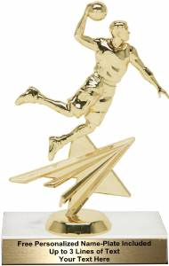 "7"" Basketball Male Star Series Trophy Kit"