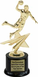 "8 1/4"" Basketball Male Star Series Trophy Kit with Pedestal Base"