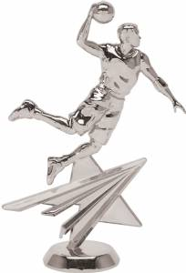 "6 1/4"" Basketball Male Star Series Trophy Figure Silver"