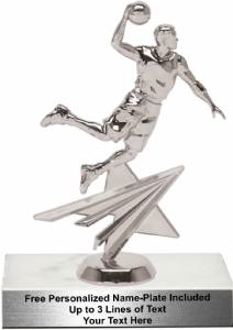"7 1/4"" Basketball Silver Male Star Series Trophy Kit"