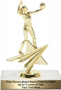 "6 3/4"" Volleyball Female Star Series Trophy Kit"