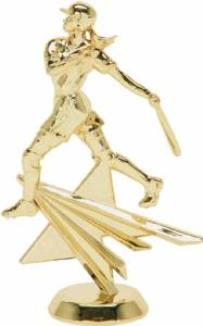 "6"" Female Batter Star Series Trophy Figure Gold"