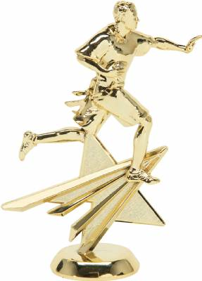 "Gold 6"" Flag Football Male Star Series Trophy Figure"