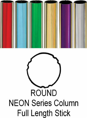 "Round Neon Trophy Column Full 45"" stick"