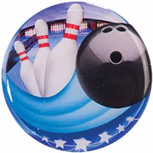 "2"" Bowling Epoxy Dome Trophy Insert"