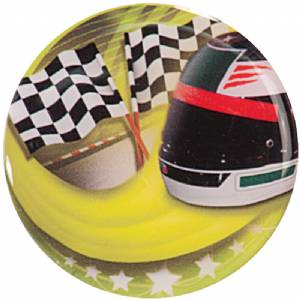 "2"" Checkered Race Flag Epoxy Dome Trophy Insert"
