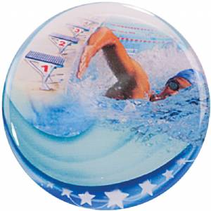 "2"" Swimming Epoxy Dome Trophy Insert"