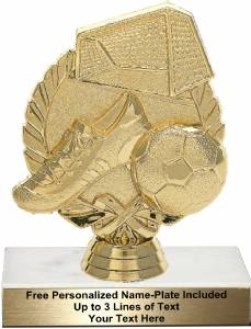 "4 7/8"" Wreath Soccer With Ball Trophy Kit"