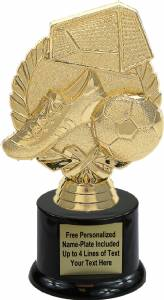 "6 3/8"" Wreath Soccer With Ball Trophy Kit with Pedestal Base"