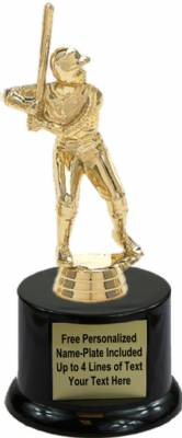 "5 3/4"" Junior League Male Baseball Trophy Kit with Pedestal Base"