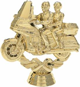 "4"" Wreath Series Touring Bike Trophy Figure Gold"