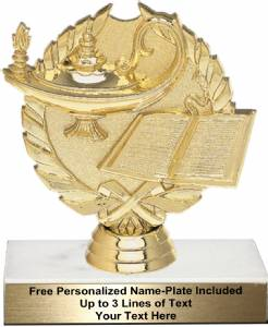 "4 3/4"" Wreath Series Lamp of Knowledge Trophy Kit"