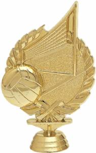 "5 1/4"" Wreath Series Volleyball Trophy Figure Gold"