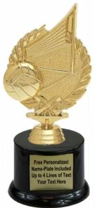 "7 1/4"" Wreath Series Volleyball Trophy Kit with Pedestal Base"