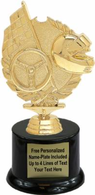"7"" Wreath Racing Trophy Kit with Pedestal Base"
