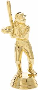 "4"" Junior League Female Trophy Figure Gold"