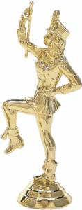 "4 3/8"" Majorette Trophy Figure Gold"