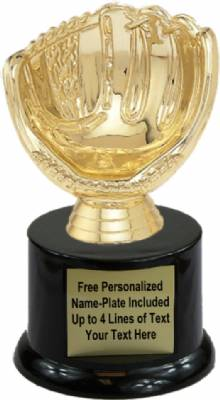 "5"" Baseball Holder Trophy Kit with Pedestal Base"