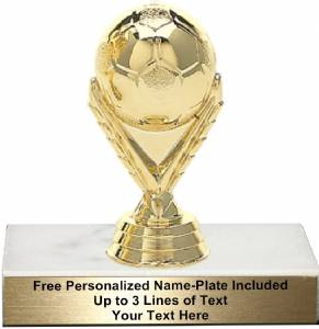 "3 3/4"" Soccer Ball Trophy Kit"
