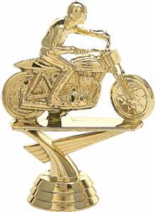 "4"" Motorcycle Flattrack Trophy Figure Gold"