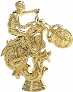 "6 3/8"" Motorcycle Male Trophy Figure Gold"