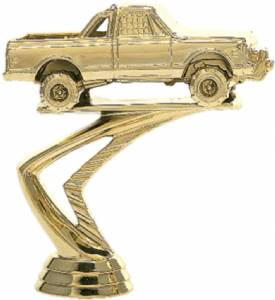 "4"" Pick-up Truck 4x4 Trophy Figure Gold"