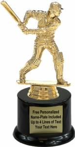 "6 1/2"" Cricket Batsman Trophy Kit with Pedestal Base"